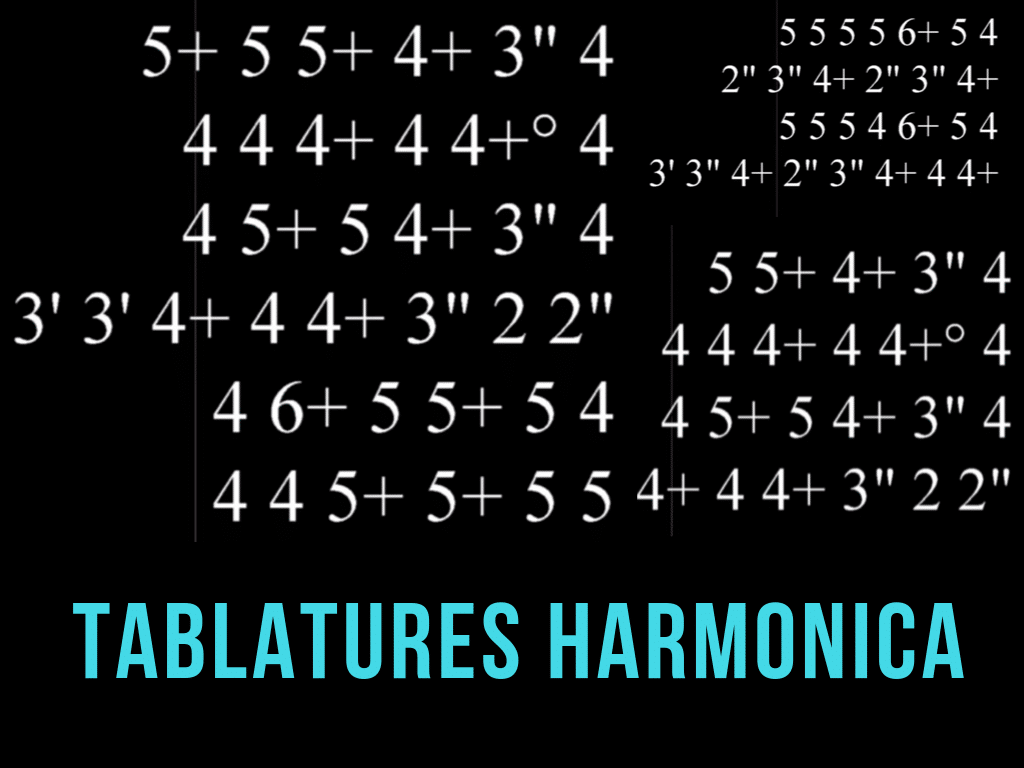 Tablatures Harmonica en Téléchargement