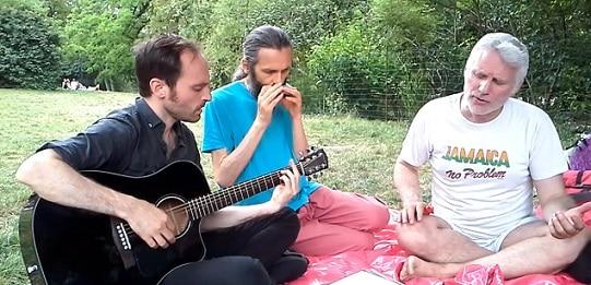 harmonica lors d'un pique-nique